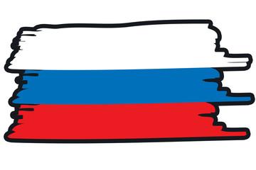 Russia National Flag Illustration