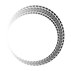Circle gradient tire track
