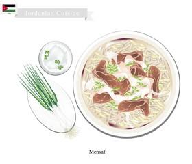 Mensaf or Jordanian Lamb Stew with Rice