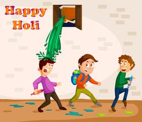 Traditional Holi background of India