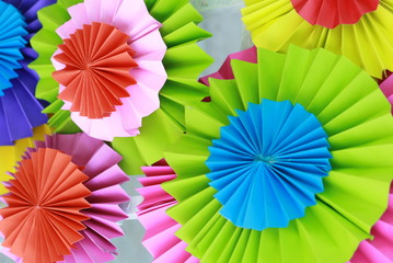 Colorful paper folding background