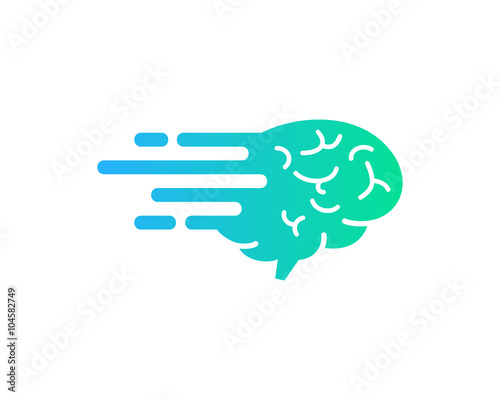 Brain Motion Logo Design Template Stock Image And Royalty Free