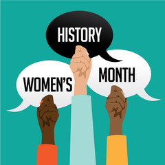 Women's History Month design. EPS 10 vector.