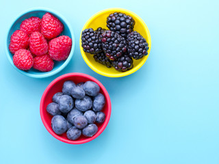Berries in bowls