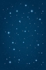 Blue night starry background. Vector vertical design template