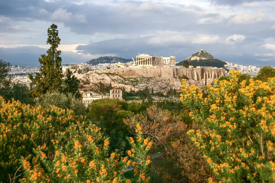 View of Athens and Mount Lycabettus