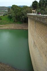 Río Guadalmedina, embalse del Limonero, Málaga, Andalucía, agua, paisaje