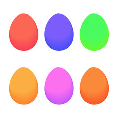 Colorful Eggs in white background