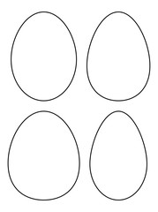 Easter egg vector symbol , icon  design. Spring illustration isolated on white background.