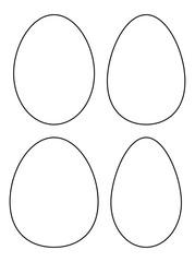 Easter egg vector symbol , icon  design. Spring illustration isolated on white background.