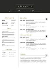 Luxury personal vector resume - cv template