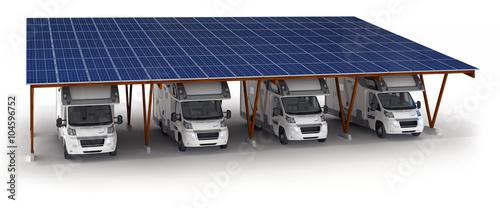 reisemobil unter einem solar carport stockfotos und lizenzfreie bilder auf bild. Black Bedroom Furniture Sets. Home Design Ideas