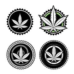 marijuana cannabis leaf symbol texture vector illustration