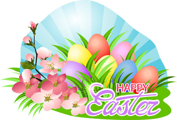 Happy Easter day greeting.