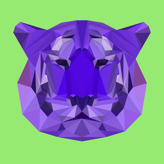 Abstract geometric polygonal tiger