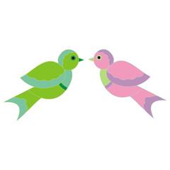 векторная иллюстрация пары птичек