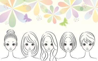 女性 グループ 背景
