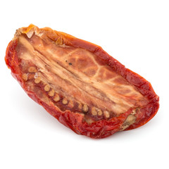 Dried tomato isolated on white background cutout
