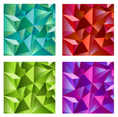 Background design in four colors