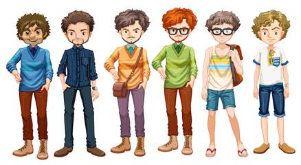 Men in different clothes design