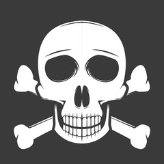 Skull with crossbone vector illustration