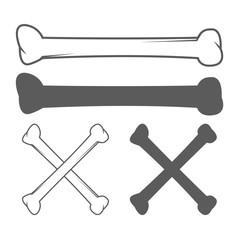 Cartoon Dog Bone. Vector Illustration
