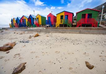 Strandhütten in St. James Südafrika