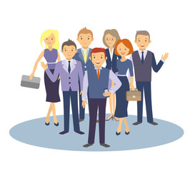 Selection of business people. Vector illustration