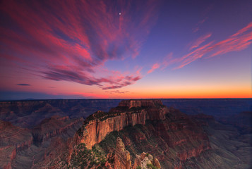 sunset from Grand Canyon