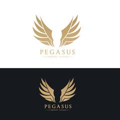Pegasus  logo,wing logo,eagle logo,vector logo template