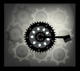 Machinery is Part Of Life , All elements are in separate layers color can be changed easily.