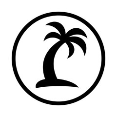 Tropical Palm Tree vector icon