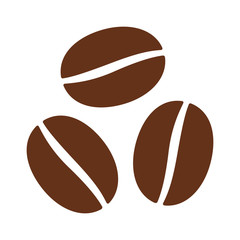 Coffee beans / seeds flat color icon for food apps and websites