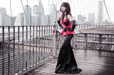 Oriental woman in new york
