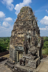 Ruins of Pre Rup, one of famous ancient Angkor temples in Cambodia