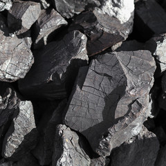 Coal in coalmine