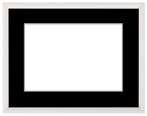 Silver vintage frame isolated on white. Silver frame simple design.
