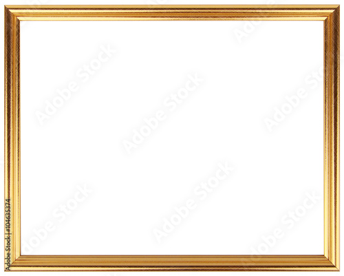 Gold Vintage Frame Isolated On White Gold Frame Simple Design