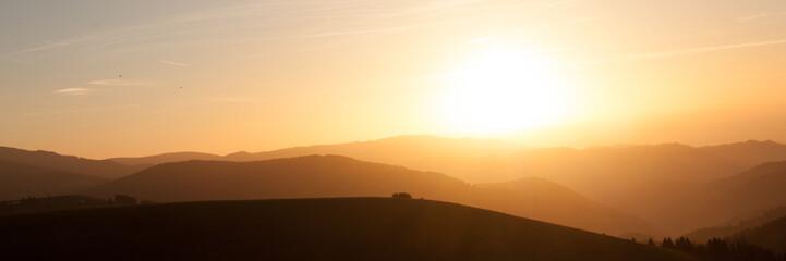 Sonnenuntergang mit dem Hofsgrunder Ausblick