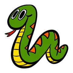 Cartoon snake vector icon