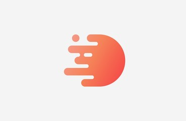 Letter D logo. Abstract geometric logo. Beautiful logo. Creative logo.