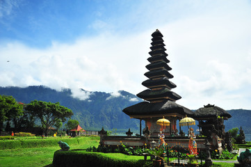 Pura Ulun Danu Temple at Bali Island, Indonesia