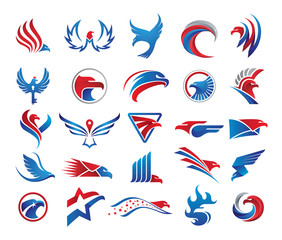 25 Eagle Logo Elements