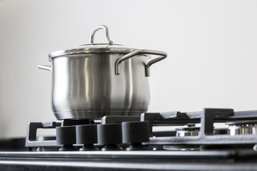 Pot on a gas stove