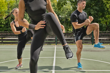 Outdoor fitness class