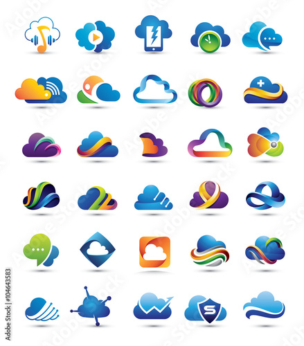 30 best 3d internet cloud logo elements stock image and royalty