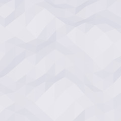 White abstract geometric rumpled triangular low poly style vector background