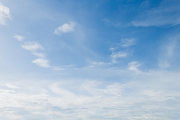 Fuzzy cloud on the blue sky