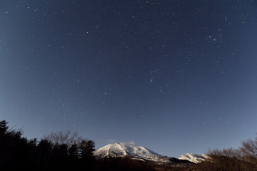 Starry and mountain