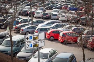 Parkplatz Parkleitsystem Unschärfe